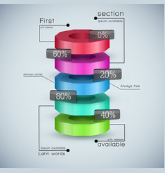 Realistic 3d business diagram vector