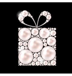 Beauty pearl gift background vector