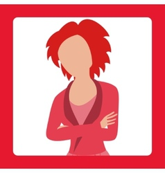 Avatar of business woman wearing a suit vector
