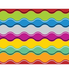 Colorful jolly celebrative wavy background vector