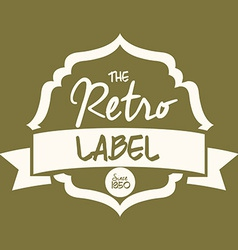 Retro and vintage label design vector