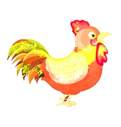 Watercolor cock isolated on white background vector