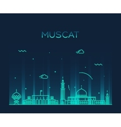 Muscat skyline trendy linear vector