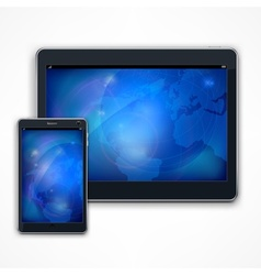 Tablet on white vector image
