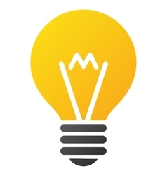 Hint bulb gradient icon vector