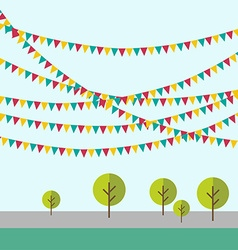 Birthday holiday festival decoration outdoor in vector