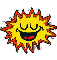 Happy freehand drawn cartoon explosion sign vector