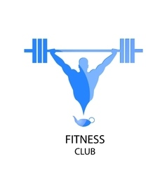 Fitness club blue icon vector