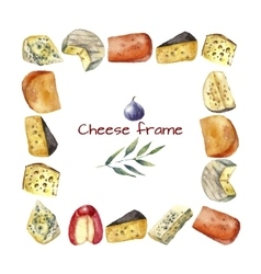Cheese frame vector