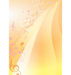 abstract bright musical background vector image