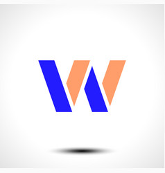 Abstract icon based on the letter w vector