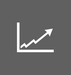 Benefits chart icon on dark background vector