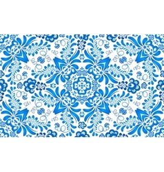 Blue floral seamless pattern in russian gzhel vector