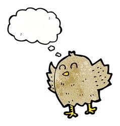 Cartoon bird with thought bubble vector