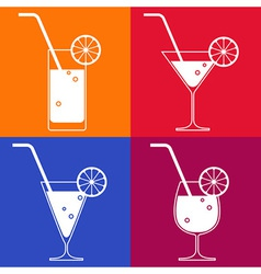 Cocktail glasses vector