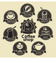 coffee and tea shop vector image vector image