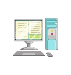 Computer with keyboard and mouse controller vector