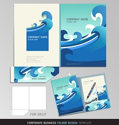 Corporate Identity Business Set Folder Design Temp vector image vector image