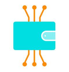 cryptocurrency wallet icon minimal pictogram vector image