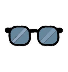 Doctor glasses vision accessorie elegant vector