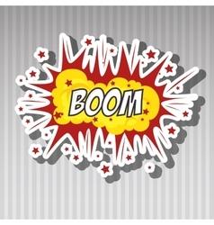explosion pop art design vector image vector image