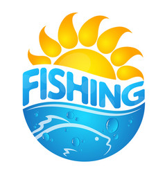 fishing design vector image vector image