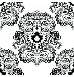 Floral element in eastern style vector