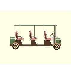 Golf color car several passengers vector