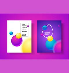 Gradient modern poster vector