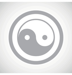 Grey ying yang sign icon vector