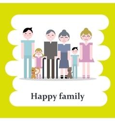 Happy cartoon family vector