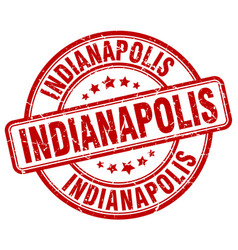 Indianapolis red grunge round vintage rubber stamp vector