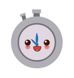 Kawaii stopwatch school subject sign simple icon vector