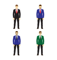Male figures avatars business people icons vector