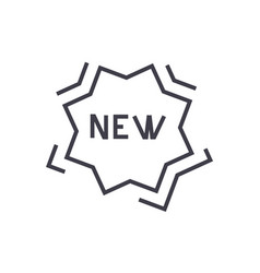 new sticker line icon sign vector image