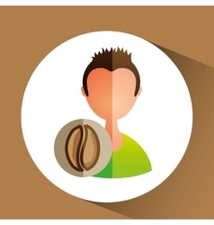 Person cooking design vector
