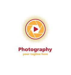 photography sun business logo vector image