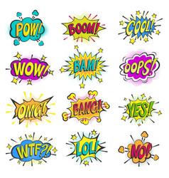 pop art comic bubbles cartoon popart vector image