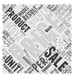 Pricing your product to move word cloud concept vector