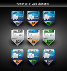 product sale web element vector image