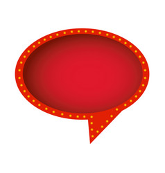 Red round chat bubble icon vector