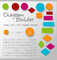 Schema diagram builder set vector