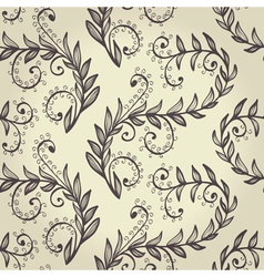 Seamless beige elegant floral background vector