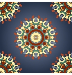 Seamless Mandala Print with Gradient vector image vector image