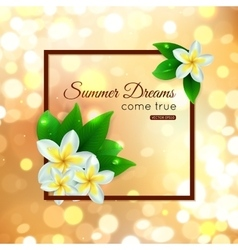 Shining summer paradise typographical background vector image vector image