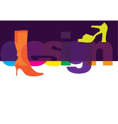 Shoes Design vector image