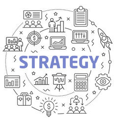 strategy linear slide for the vector image