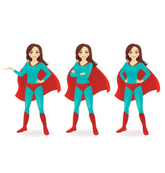 superwoman set vector image vector image