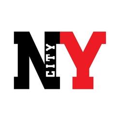 T shirt New York city vector image