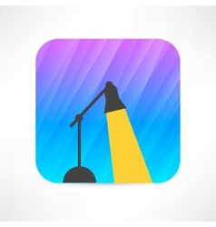 table lamp icon vector image